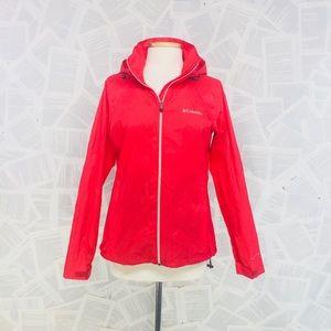 Columbia Rain Windbreaker Jacket Hood Pink Medium